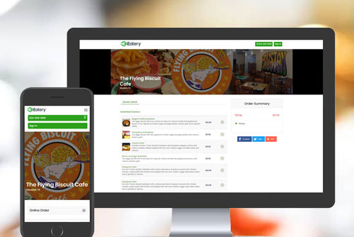 Online Order Management System of iEatery